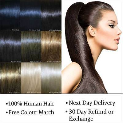 Remy Clip in & Wrap Around Ponytail Pony Tail Human Hair Extensions
