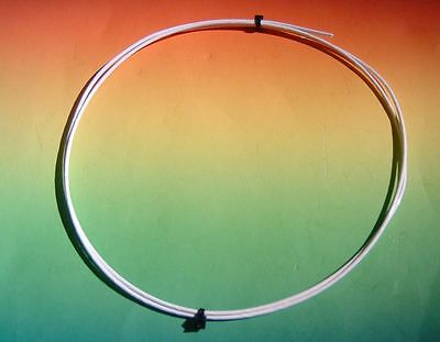 MUNDORF SGW115WH Silber/Gold Draht silvergold wire 1,5mm PTFE -1m- weiss/white