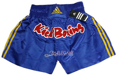 Adidas Performance Men's Kick Boxing Shorts Pants ADISKB01 Blue Adult Size M L