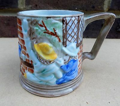 Vintage HJ WOOD BURSLEM Pottery Hand Painted Small Tankard / Mug - Pub Scene