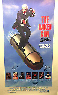 Leslie Nielsen & George Kennedy Dual Autographed 'The Naked Gun' Movie Poster