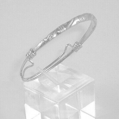 Baby/Infant Genuine 925 Sterling Silver Bangle with Bells (#5078-BELL)