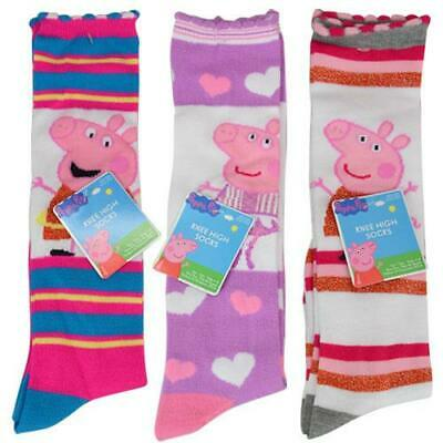3 Pairs Socks Assorted Girl Peppa Pig Sock Size 6-8 Shoe Size 10.5-4 NEW