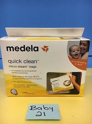 Brand New Medela Quick Clean Micro-Steam Bags 5 Count