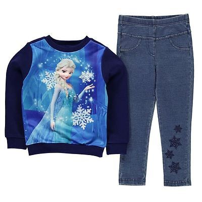 Girls Character 2 Piece Jegging Outfit Frozen New With Tags