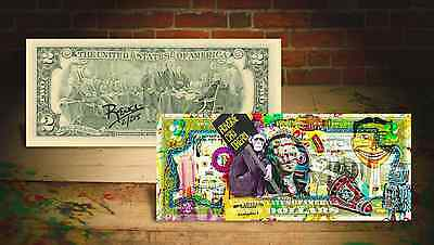 MONKEY * ANYONE CAN DREAM * by RENCY Art Giclee on $2 Bill SIGNED #/215 Banksy