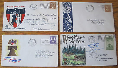WWII First Day Issue Patriotic Envelopes - 300 Envelopes! WW2