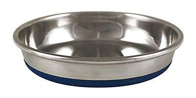 Our Pets Durapet Premium Rubber-Bonded Stainless Steel Dish 1 cup Silver