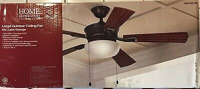 Home Decorators Lake George 54 in. Indoor/Outdoor Natural Iron Ceiling Fan