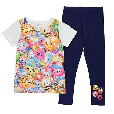 Girls Character Shopkins T-Shirt & Leggings Set New With Tags