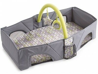 Summer Infant Travel Bed Indoor Outdoor Portable Folding Baby Infant Gear Gray