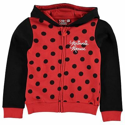 Girls Character Full Zip Hoody Disney Minnie Mouse New With Tags