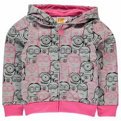 Girls Character Full Zip Hoody Minions New With Tags