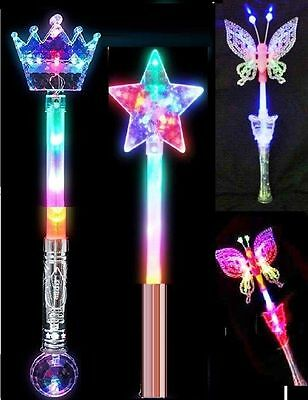 Led Flashing Fairy Butterfly Crown Star Wand Light Up kids XMAS PARTY GIFT