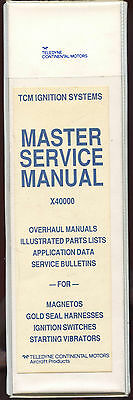 Master Service Manual X40000 Tcm Ignition Systems - Teledyne Continental Motors