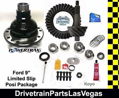 "Richmond Excel Ford 9/"" 4.33 Ratio Ring and Pinion Gear Set Master Install Kit"