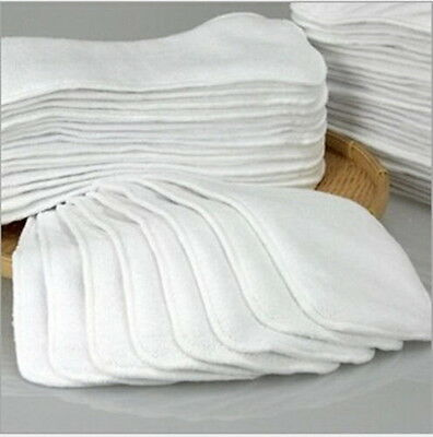 1-20Pcs Reusable Baby inserts liner for Cloth Diaper Nappy microfiber Optional Q