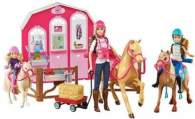 Barbie Stacie Chelsea Sisters Horses And Ranch Gift Set Pretend Play
