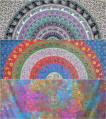 Indian Tapestry Wall Hanging Mandala Large Psychedelic Hippie Throw Bedspread