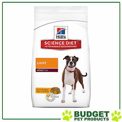 Hills Science Diet Dry Adult Light For Dogs 12kg