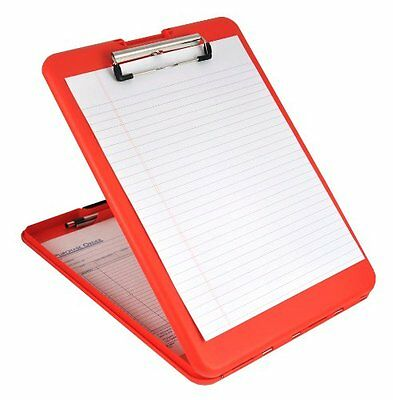 Plastic Storage Clipboard Office Holder Case Letter Paper Clip Coaching Tool tv