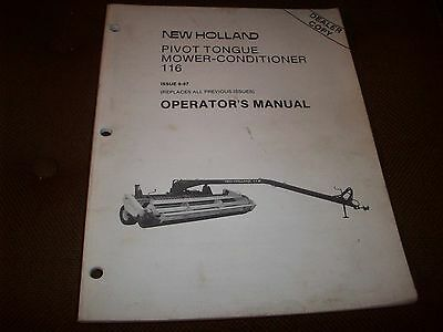 new holland 1411 discbine manual