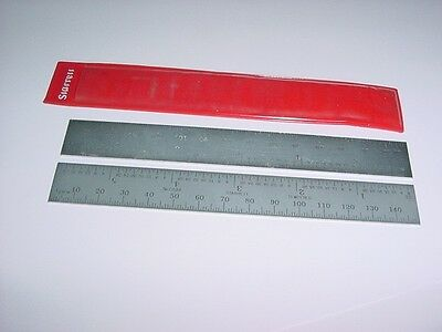 """STARRETT C636ME-150mm, 6""""SPRING TEMPERED STEEL RULE, METRIC AND INCH GRADS."""