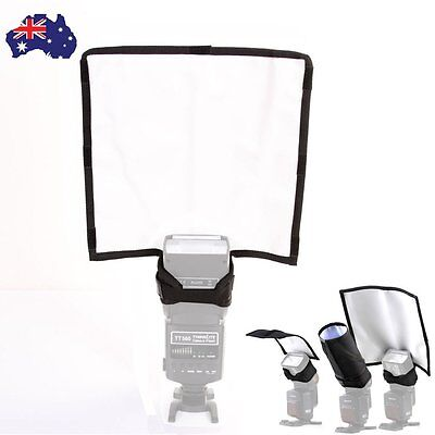 AU  Foldable Speedlight Reflector Snoot Sealed Flash Diffuser Beam For Canon etc