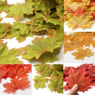 100~1000X Artificial Maple Fall Autumn Leaves Foliage Favor Wedding Decorations