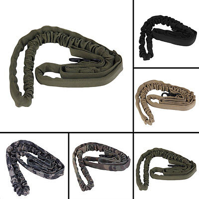 Outdoor Puppy Dog Training Walk Military Tactical Leash Elastic Bungee Strap ZD