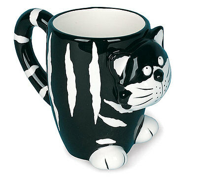Chester The Cat Cartoon Black & White Mug Ceramic Burton & Burton Gift Boxed