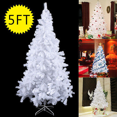 5ft 1.5m Christmas Tree Hausen White Indoor Xmas Artificial Decoration Tree