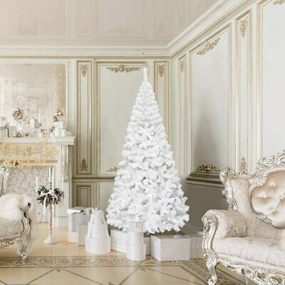 6FT Christmas Xmas Tree Hausen White Artificial Decoration Tree with Metal Stand