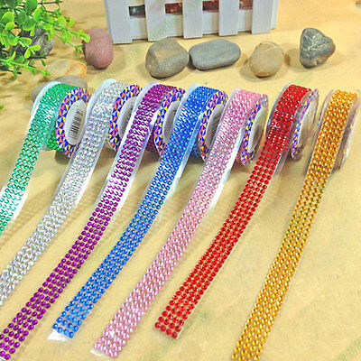 New Self-Adhesive Acrylic Rhinestones Stick On Scrap Booking Craft Sticker Tape