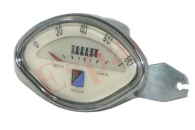 NEW VESPA SPEEDOMETER 0 - 80 Mph VBB SS GL GT GS SPRINT SPEEDO