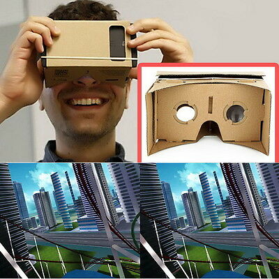Ulter Clear DIY Cardboard 3D VR Virtual Reality Glasses For Smartphone US