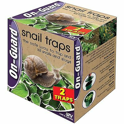On-Guard SNAIL TRAPS Easy to Bury, Reusable and Treats over 60 square metres 2Pc