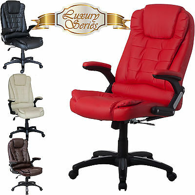 Luxury Executive Office Chair Swivel Computer Desk Chair High Back PU