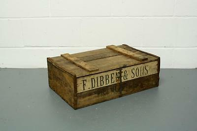 Vintage Industrial Poole Fish Box Crate Bushel Box Trug Storage #1722