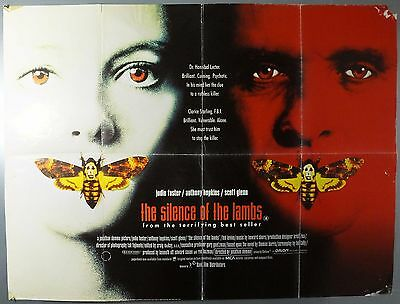 The Silence Of The Lambs - Anthony Hopkins - Original Uk Quad Movie Poster