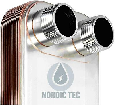 Stainless steel PLATE HEAT EXCHANGER brazed NORDIC TEC 1000-1250kW 2' (50) BIG