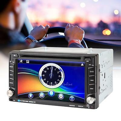 "6.2"" 2 Din Bluetooth HD Car Stereo DVD USB SD Touch Screen FM MP3 MP4 Player"