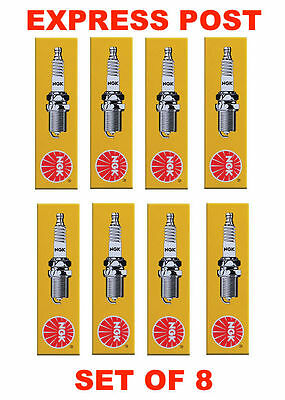 Ngk Spark Plugs Set Br6Fs-15 X 8 - Ford Falcon Holden Commodore Berlina