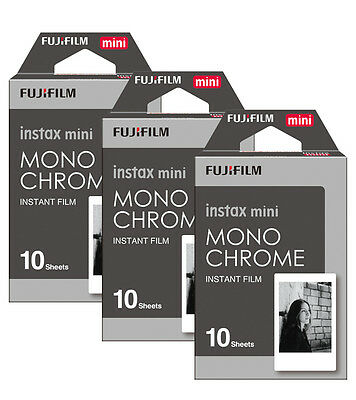 Fujifilm Fuji Instax Mini Monochrome Mono 30 Film For 7s 8 70 90 Camera SP1 SP-2