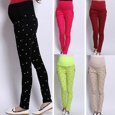 Hot Maternity Pregnancy Casual Trousers Yoga Over Bump Pants Purpless Maternity