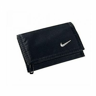 new Nike Black Genuine Trifold Wallet with zip for coins and six card slots