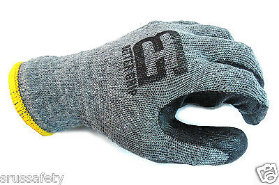 240 Pairs Better Grip Premium Gray Double Dipped Rubber Coated Palm Work Gloves