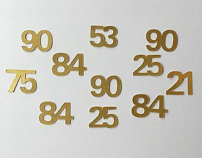 500 Number Table Confetti Any Age Birthday Party Anniversary Celebration Decorat