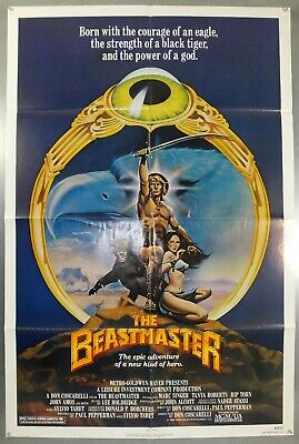 The Beastmaster -Marc Singer/tanya Roberts- Original Usa One Sheet Movie Poster