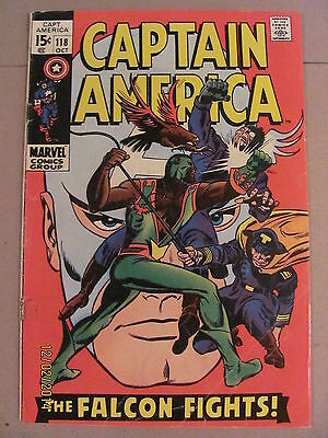 Captain America #118 Marvel 1969 Falcon 2nd app New Captain America KEY ISSUE